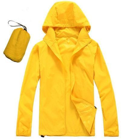 Men Quick Dry Skin Jacket / Ultra-Light Casual Windbreaker / Waterproof Clothing-Yellow-XS-JadeMoghul Inc.