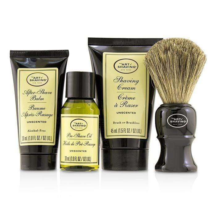 Men's Skin The 4 Elements of the Perfect Shave Mid-Size Kit - Unscented - 4pcs The Art Of Shaving