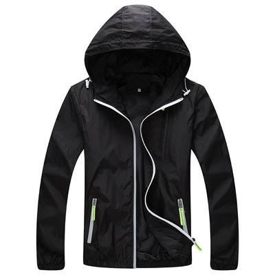Men Skin Coat / Waterproof Outwear Ultralight Jacket-Black-M-JadeMoghul Inc.