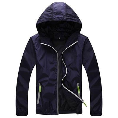 Men Skin Coat / Waterproof Outwear Ultralight Jacket-Dark Blue-M-JadeMoghul Inc.