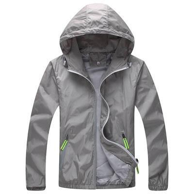 Men Skin Coat / Waterproof Outwear Ultralight Jacket-Grey-M-JadeMoghul Inc.