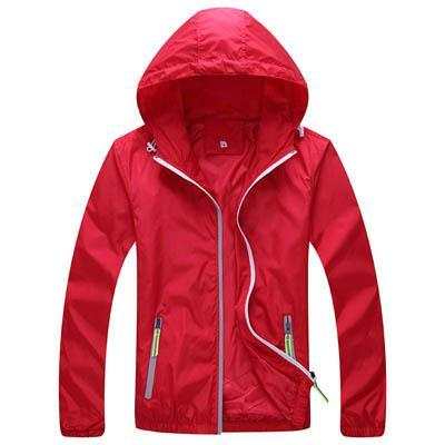 Men Skin Coat / Waterproof Outwear Ultralight Jacket-Red-M-JadeMoghul Inc.