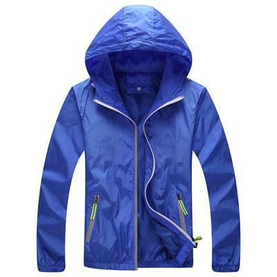 Men Skin Coat / Waterproof Outwear Ultralight Jacket-Sky Blue-M-JadeMoghul Inc.