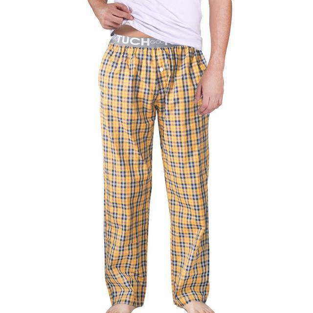 Men Sleep Bottoms / Pyjama Pants / Men Underwear Trousers-YELLOW-L-JadeMoghul Inc.
