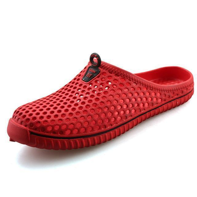 Men Slippers / Breathable Beach Sandals-Red-4.5-JadeMoghul Inc.