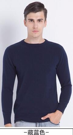 Men Smart Jumper / Cashmere Blend Knitted Sweater / O-Neck Long Sleeve Warm Pullover-dark blue1-S-JadeMoghul Inc.