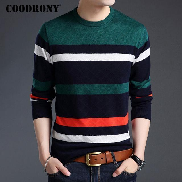 Men Smart Sweater / Winter New Arrival / Cashmere Pullover For Men-Blue-S-JadeMoghul Inc.