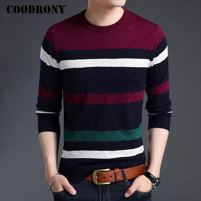 Men Smart Sweater / Winter New Arrival / Cashmere Pullover For Men-Wine-S-JadeMoghul Inc.