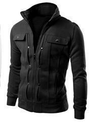 Men Smart Sweatshirt / Jacket For Winter-Black-L-JadeMoghul Inc.