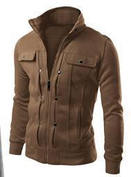 Men Smart Sweatshirt / Jacket For Winter-Coffee-L-JadeMoghul Inc.