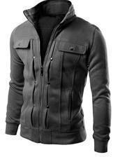 Men Smart Sweatshirt / Jacket For Winter-Dark Grey-L-JadeMoghul Inc.