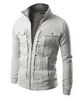 Men Smart Sweatshirt / Jacket For Winter-White-L-JadeMoghul Inc.