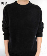 Men Solid Winter Pullover / Full Sleeves O-Neck Cashmere Sweater-Black-S-JadeMoghul Inc.