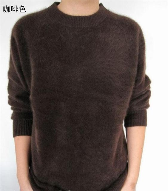 Men Solid Winter Pullover / Full Sleeves O-Neck Cashmere Sweater-coffe-S-JadeMoghul Inc.