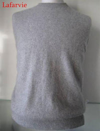 Men Solid Winter Pullover / Full Sleeves O-Neck Cashmere Sweater-gray-S-JadeMoghul Inc.