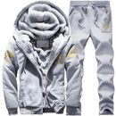 Men Sportswear Hoodies / Casual Sweatshirt / Tracksuit Sets-D76 Light Gray-M-JadeMoghul Inc.