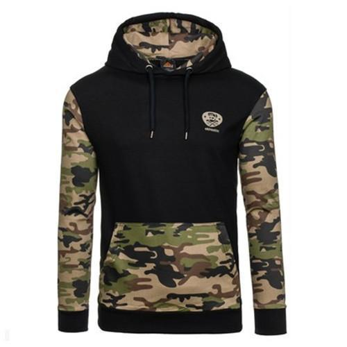Men Sportswear Pullover / Comfortable Casual Hip hop Sweatshirt-black army green-S-JadeMoghul Inc.