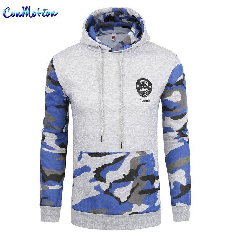 Men Sportswear Pullover / Comfortable Casual Hip hop Sweatshirt-black blue-S-JadeMoghul Inc.