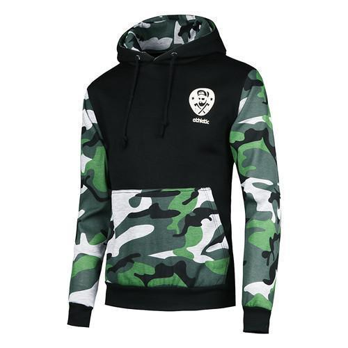 Men Sportswear Pullover / Comfortable Casual Hip hop Sweatshirt-black green-S-JadeMoghul Inc.
