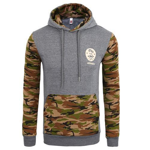 Men Sportswear Pullover / Comfortable Casual Hip hop Sweatshirt-gray army green-S-JadeMoghul Inc.