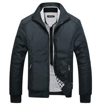 Men Spring / Autumn Jacket With Fashionable Stand Collar / Slim Casual Style Business Jacket-Black-M-JadeMoghul Inc.
