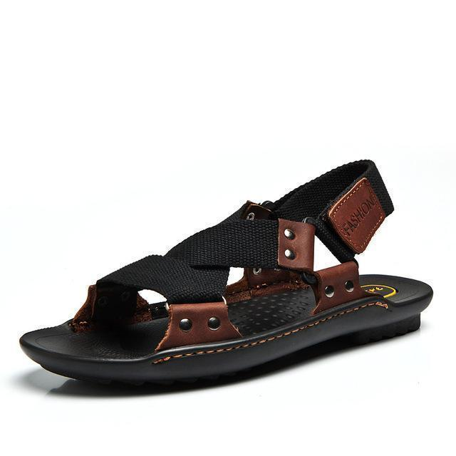 Men Stylish Designer Type Sandals / Leather Slippers For Men-hei se-6.5-JadeMoghul Inc.
