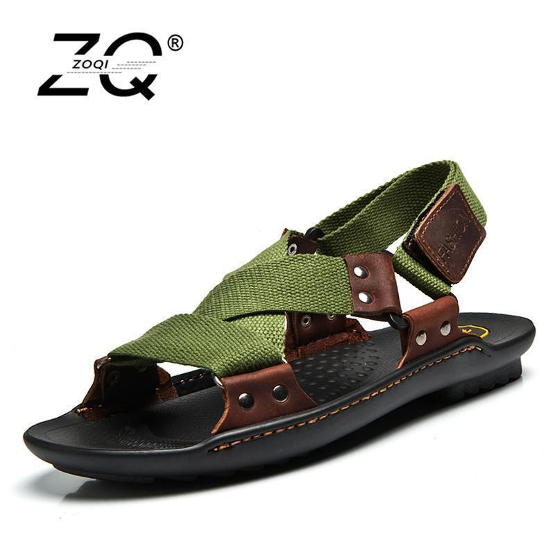 Men Stylish Designer Type Sandals / Leather Slippers For Men-jun lv se-6.5-JadeMoghul Inc.