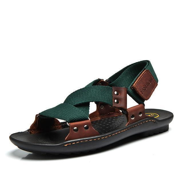 Men Stylish Designer Type Sandals / Leather Slippers For Men-mo lv se-6.5-JadeMoghul Inc.