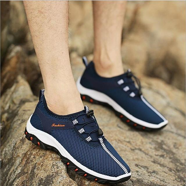 Men Summer Fashion Holed Shoes / Lace Up Casual Shoes-style 2-10-JadeMoghul Inc.