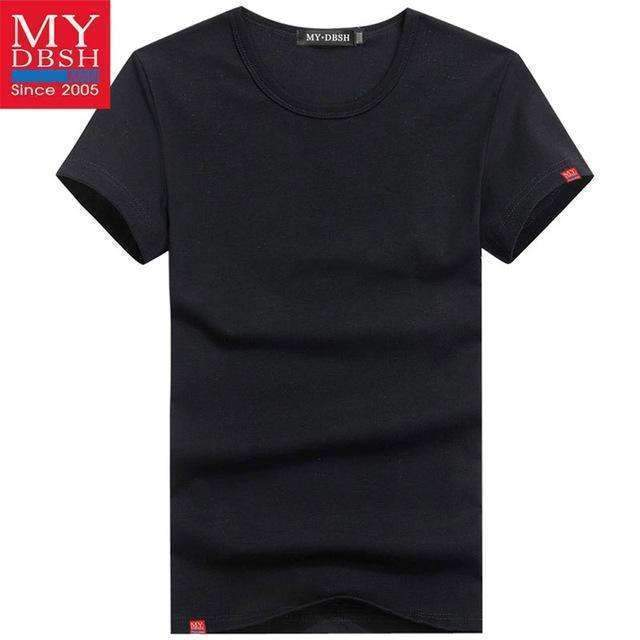 Men Summer Short-Sleeved T Shirt-O Neck Black-S-JadeMoghul Inc.