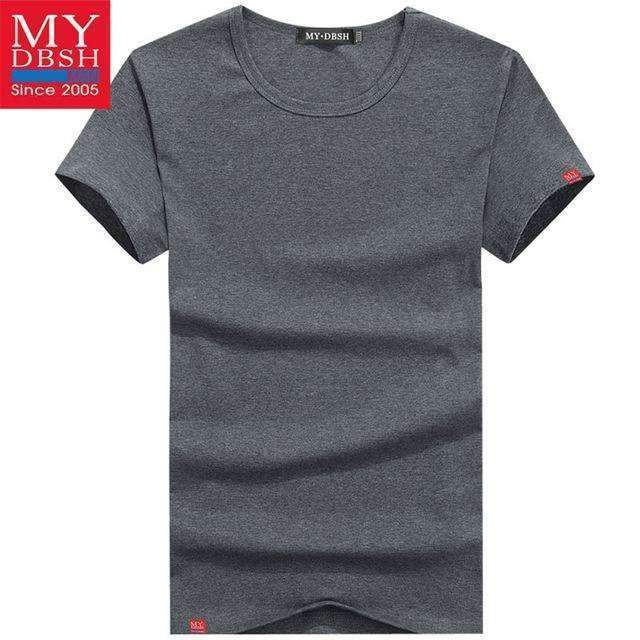 Men Summer Short-Sleeved T Shirt-O Neck Dark Gray-S-JadeMoghul Inc.