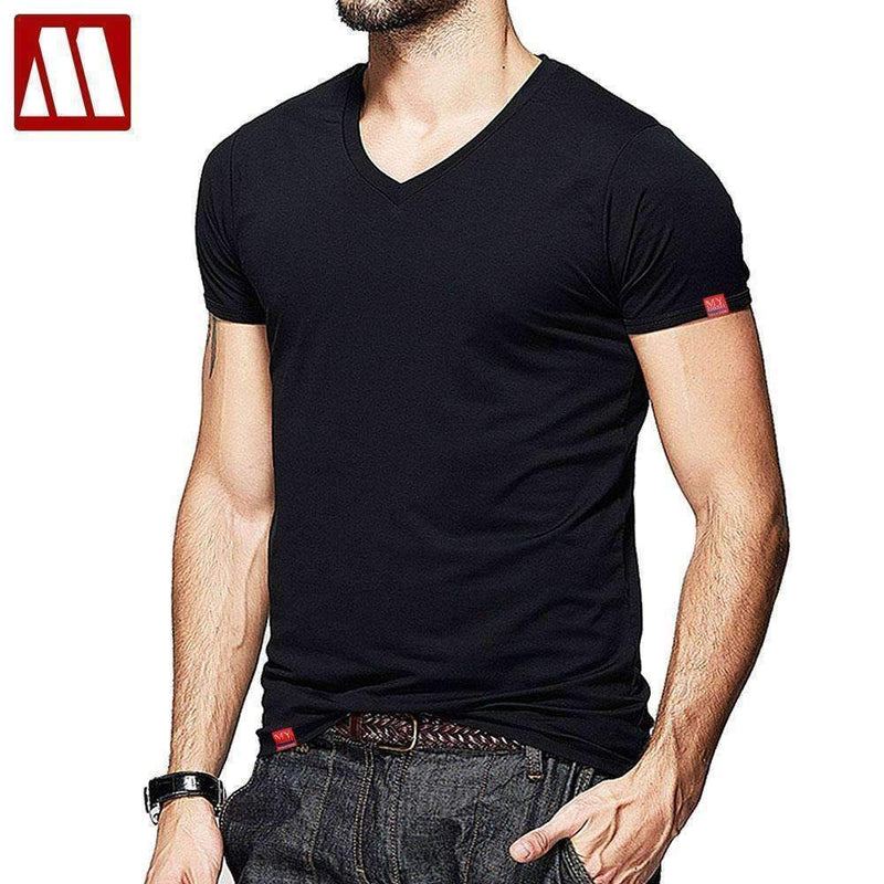 Men Summer Short-Sleeved T Shirt-O Neck White-S-JadeMoghul Inc.