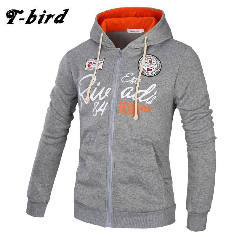 Men Sweatshirt / Zipper Hoodie For Men-Dark gray red-XL-JadeMoghul Inc.