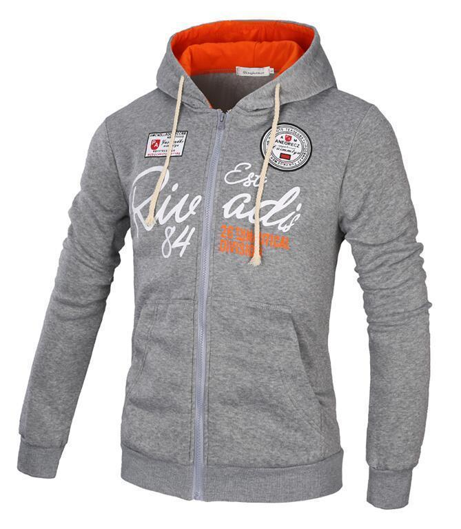 Men Sweatshirt / Zipper Hoodie For Men-Gray-XL-JadeMoghul Inc.
