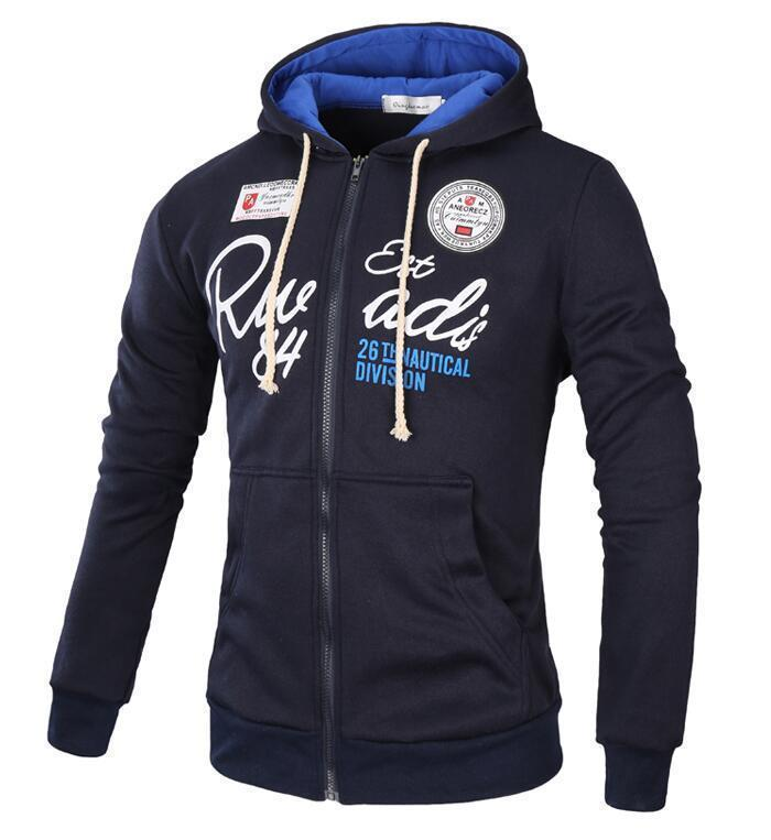 Men Sweatshirt / Zipper Hoodie For Men-Navy-XL-JadeMoghul Inc.
