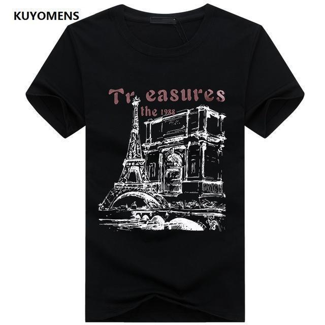 Men Tee Shirt Short Sleeve / Casual T-Shirts-Black-S-JadeMoghul Inc.