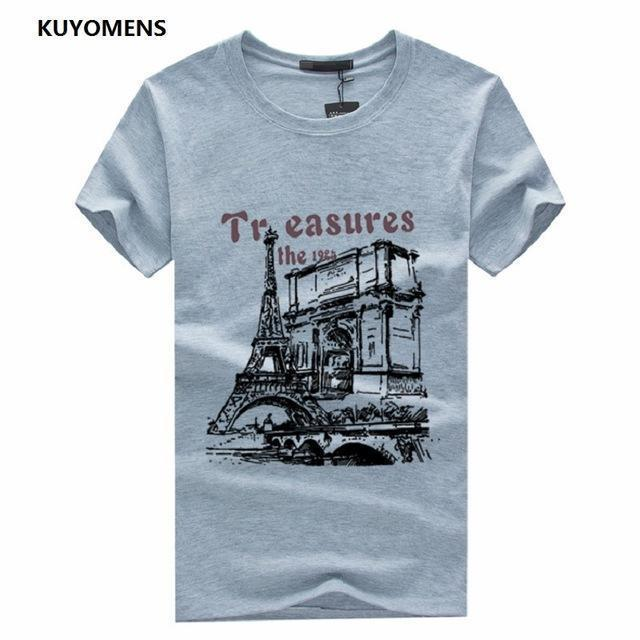 Men Tee Shirt Short Sleeve / Casual T-Shirts-Gray-S-JadeMoghul Inc.