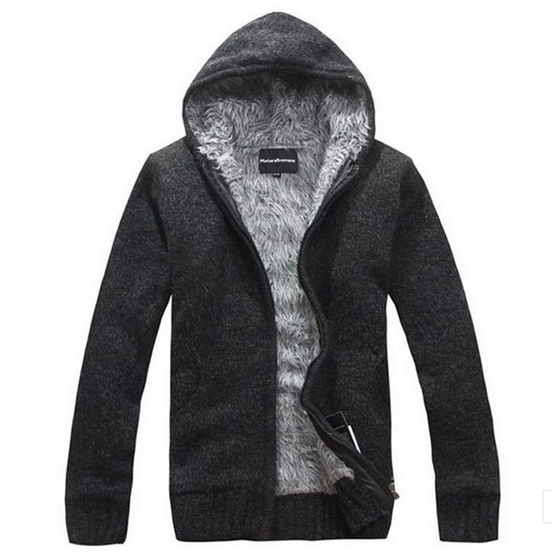 Men Thick Hoodie With Fur / All Season Hoodie-Black-M-JadeMoghul Inc.