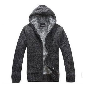 Men Thick Hoodie With Fur / All Season Hoodie-Dark Gray-M-JadeMoghul Inc.