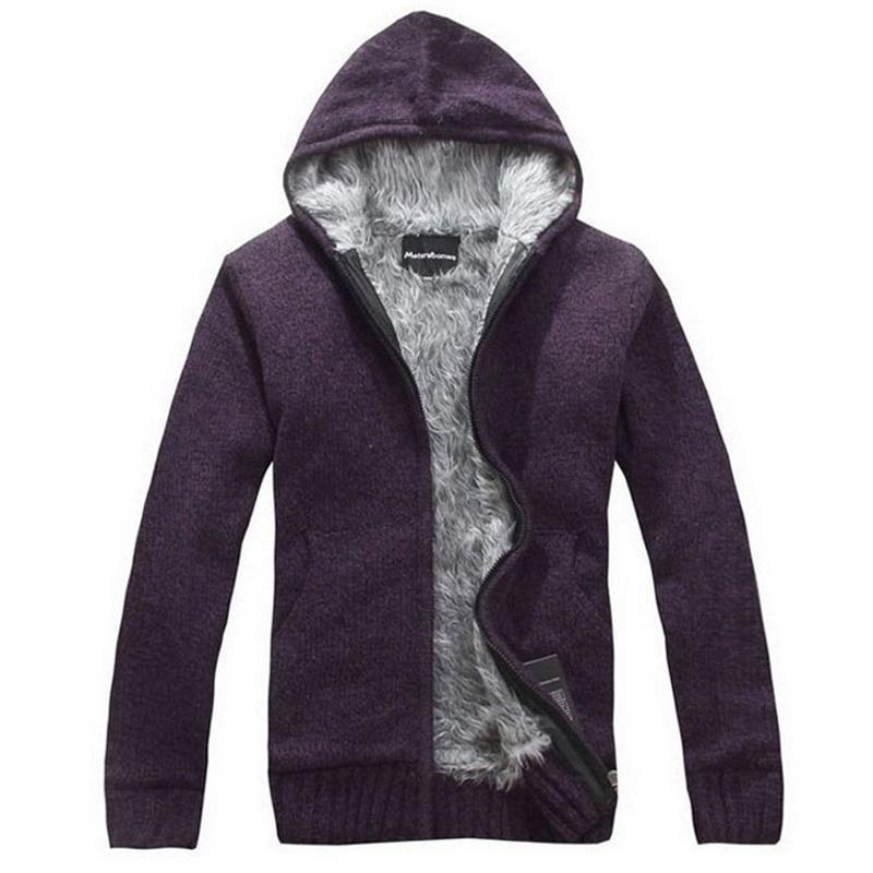 Men Thick Hoodie With Fur / All Season Hoodie-Purple-M-JadeMoghul Inc.