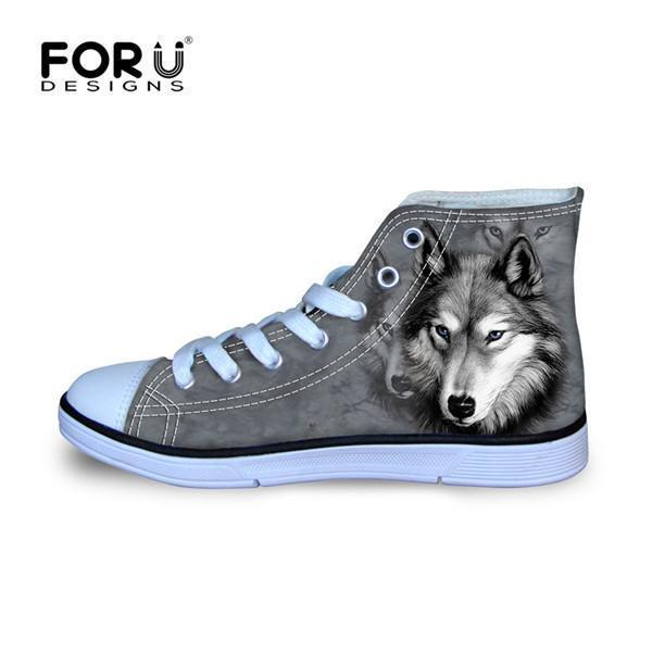 Men Top Canvas Shoes / Classic High-Top Flat Shoe-H035AK-5-JadeMoghul Inc.