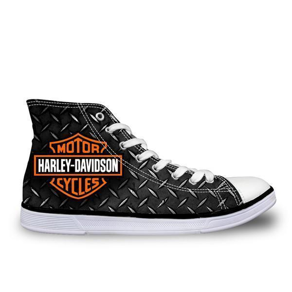 Men Top Canvas Shoes / Classic High-Top Flat Shoe-H2902AK-5-JadeMoghul Inc.