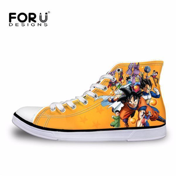 Men Top Canvas Shoes / Classic High-Top Flat Shoe-H2937AK-5-JadeMoghul Inc.