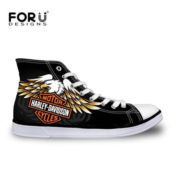 Men Top Canvas Shoes / Classic High-Top Flat Shoe-H2969AK-5-JadeMoghul Inc.