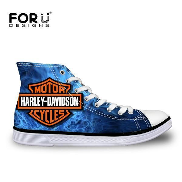Men Top Canvas Shoes / Classic High-Top Flat Shoe-H2970AK-5-JadeMoghul Inc.