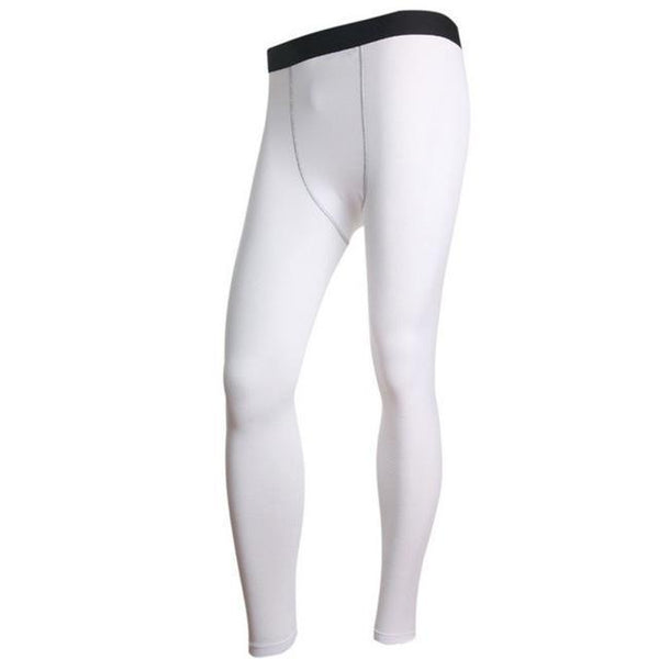 Men Warm Long Johns Pants Thermal Base layer Thick Underwear Winter Navy-White-L-JadeMoghul Inc.