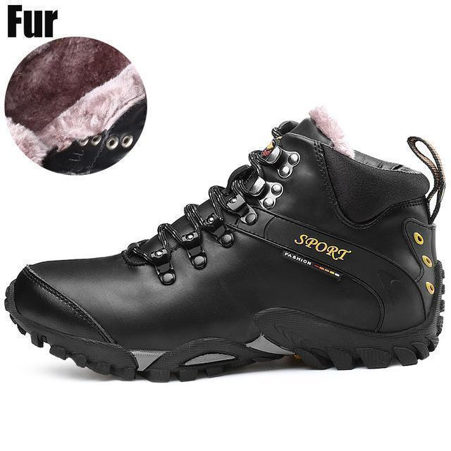 Men Waterproof Footwear Boots / Winter Snow Boots-blk fur 1611-6-JadeMoghul Inc.
