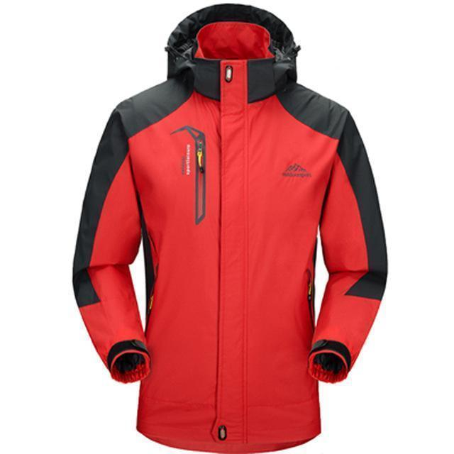 Men Waterproof Spring Hooded Jacket / Men Solid Outerwear-Men Red-M-JadeMoghul Inc.