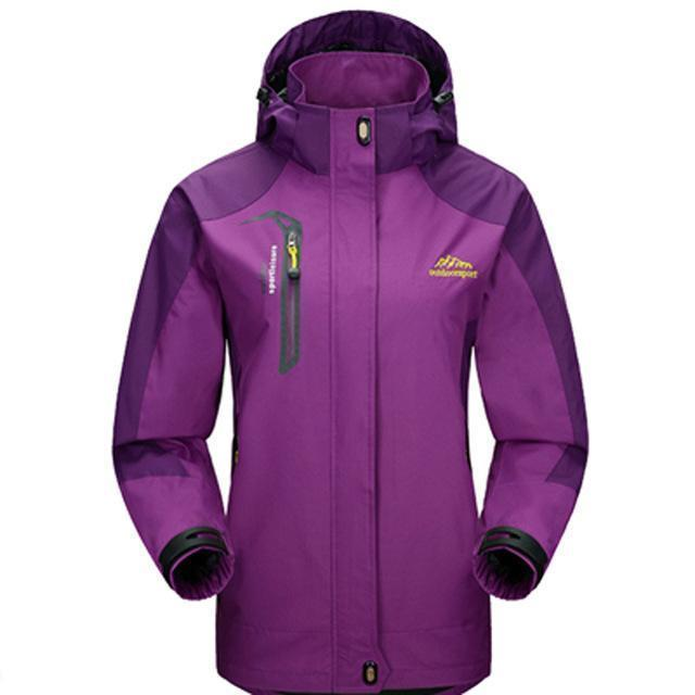Men Waterproof Spring Hooded Jacket / Men Solid Outerwear-Women Purple-M-JadeMoghul Inc.