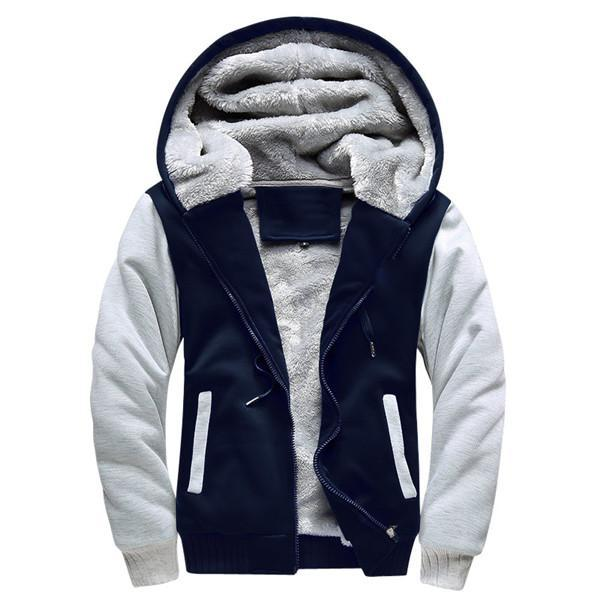 Men Winter Fashion Bomber / Men Vintage Thick Fleece Jacket-W02 darkblue-S-JadeMoghul Inc.